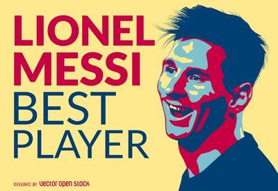 Lionel Messi mejor jugador de la ilustración