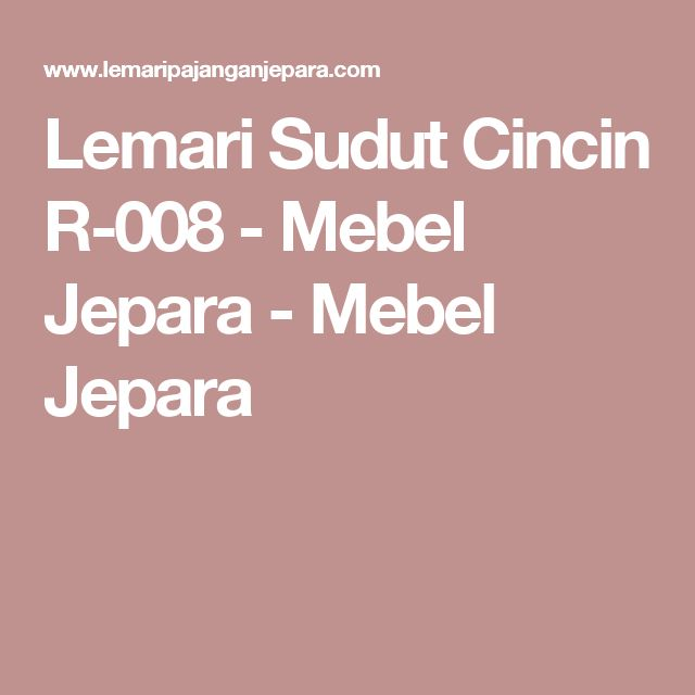 Lemari Sudut Cincin R-008 - Mebel Jepara - Mebel Jepara