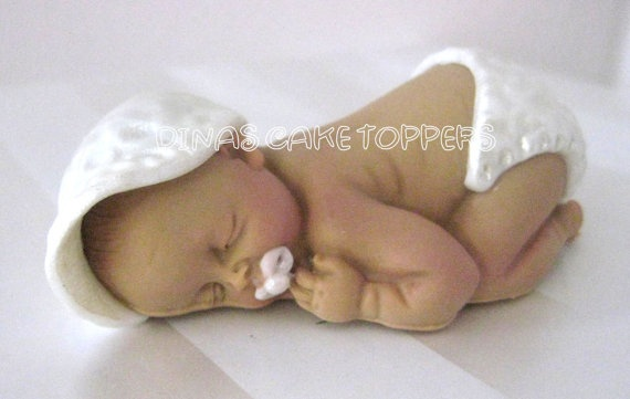 BABY Boy Cake Topper Baptism Baby Shower by DinasCakeToppers, $18.00