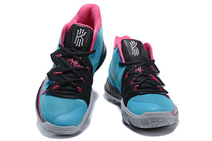 "70781777e229 Nike Kyrie 5 ""South Beach"" Blue Gale Laser Fuchsia-Black Shoes"