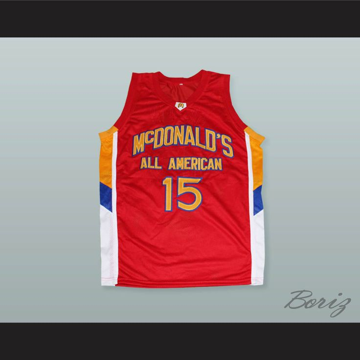 "Blake Griffin 15 McDonald's All American Red Basketball Jersey. STITCH SEWN GRAPHICS  CUSTOM BACK NAME CUSTOM BACK NUMBER ALL SIZES AVAILABLE SHIPPING TIME 3-5 WEEKS WITH ONLINE TRACKING NUMBER Be sure to compare your measurements with a jersey that already fits you. Please consider ordering a larger size, if you prefer a loose fit. HOW TO CALCULATE CHEST SIZE: Width of your Chest plus Width of your Back plus 4 to 6 inches to account for space for a loose fit. Example: 18"" wide chest plus…"
