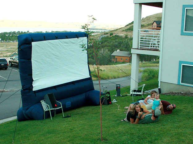 An Inflatable Movie Screen