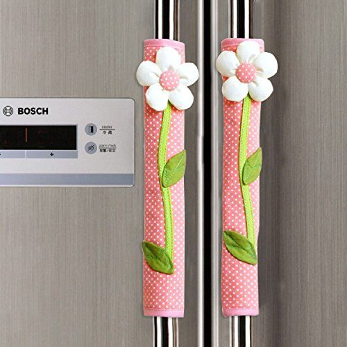 2 X Handmade Refrigerator Fridge Microwave Ovens Microwave Dishwasher Dust Door Handle CoverMoonter Door Cloth Cover for Home Kitchen Appliance DecorationKeep Clean From DripsDustSmudges Pink -- Details can be found by clicking on the image. (This is an affiliate link and I receive a commission for the sales)