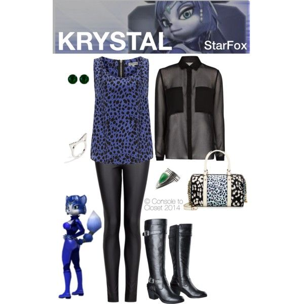 Krystal (StarFox) by console-to-closet on Polyvore featuring MANGO, Alice & You, Mossimo Supply Co., Juicy Couture, BaubleBar, Reeds Jewelers and Krystal