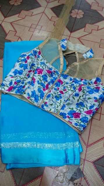 Georrget saree with stitched blouse | Buy Online Sarees | Elegant Fashion Wear