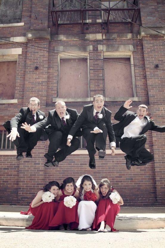 ultimate jumping picture - weddingsabeautiful.com
