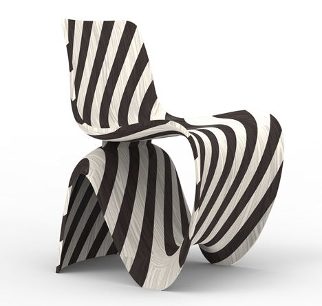 Joris Laarman Lab 3D printed diagonal chair