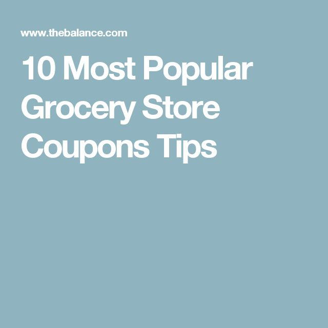 10 Most Popular Grocery Store Coupons Tips