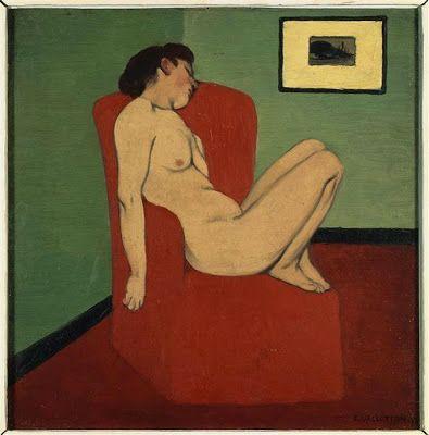 Femme assise dans un fauteuil - Félix Vallotton ______________________________ ♥♥♥ deniseweb.free.fr ♥♥♥