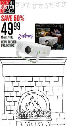 This home theater projector is the perfect gift for anyone on your Christmas list! Save 50% on it during Black Friday.. Check out the ad online now!
