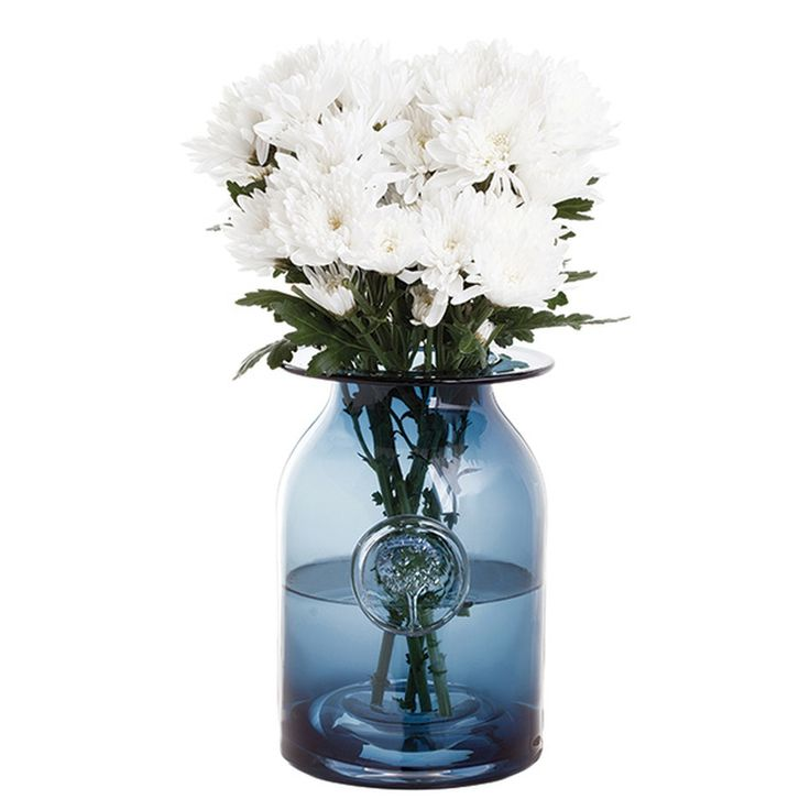 Dartington Flower Jar Large 220mm (h) Ink Blue, Dartington Crystal