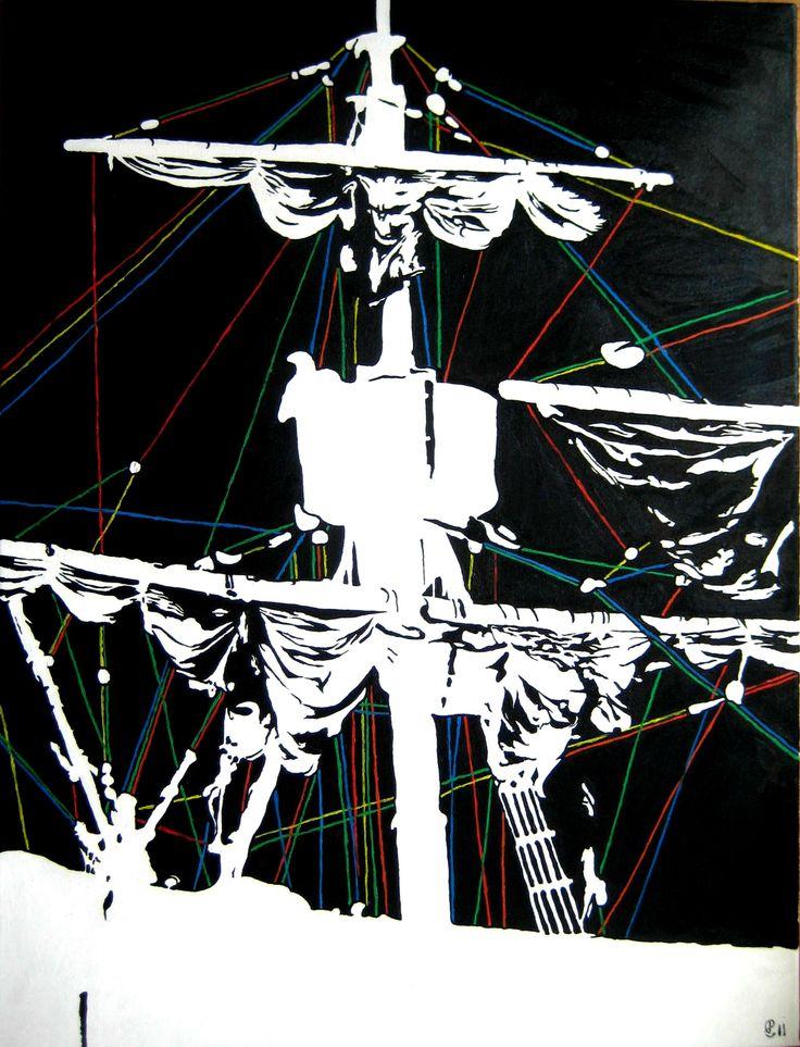 """ Á descoberta"" óleo sobre tela. 80x60cm. para venda..."