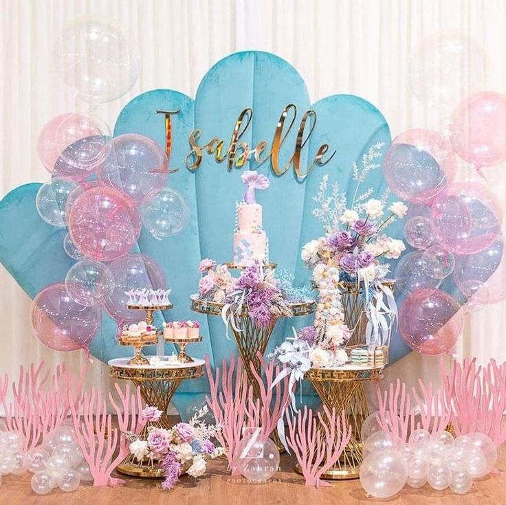 30 Cool Birthday Party Decorations Ideas Mermaid Party Decorations Mermaid Birthday Party Decorations Birthday Party Decorations