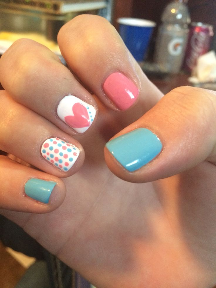 Gender reveal nails                                                                                                                                                                                 More