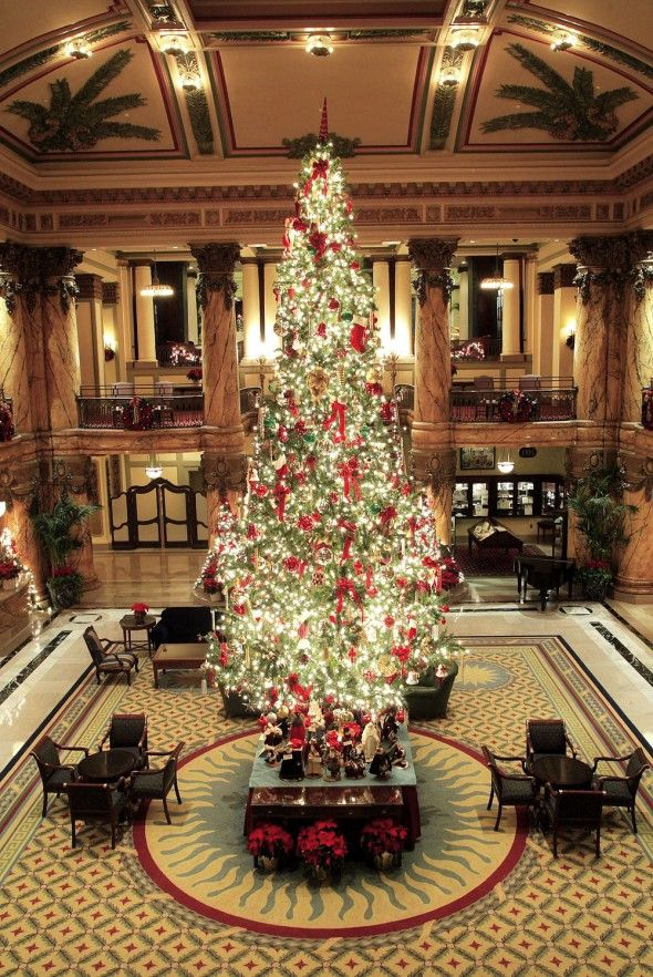 Holidays at the Jefferson Hotel in Virginia. Love it here
