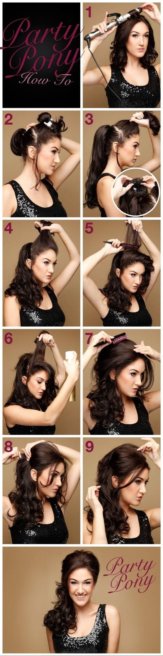 DIY Party Pony Hair diy easy diy diy beauty diy hair diy fashion beauty diy diy style diy hair style