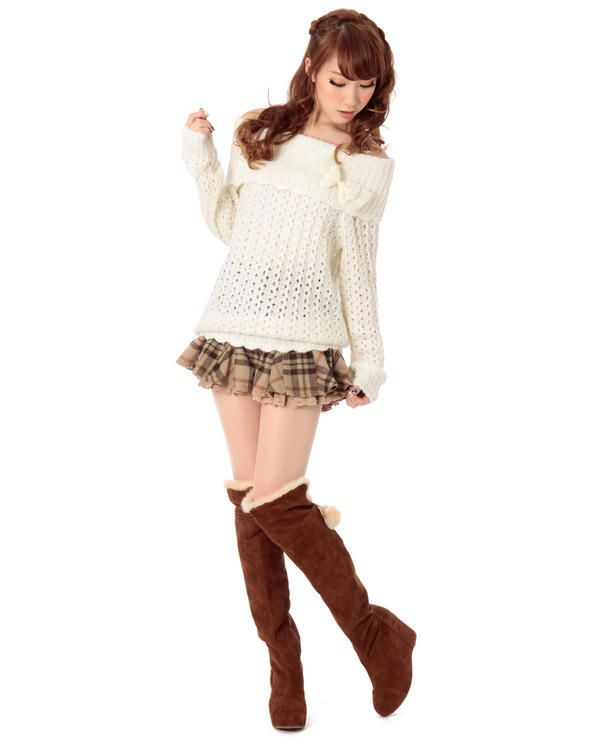 Cute outfit. I had something similar when I was younger/thinner, but it would probably not be flattering on me now.