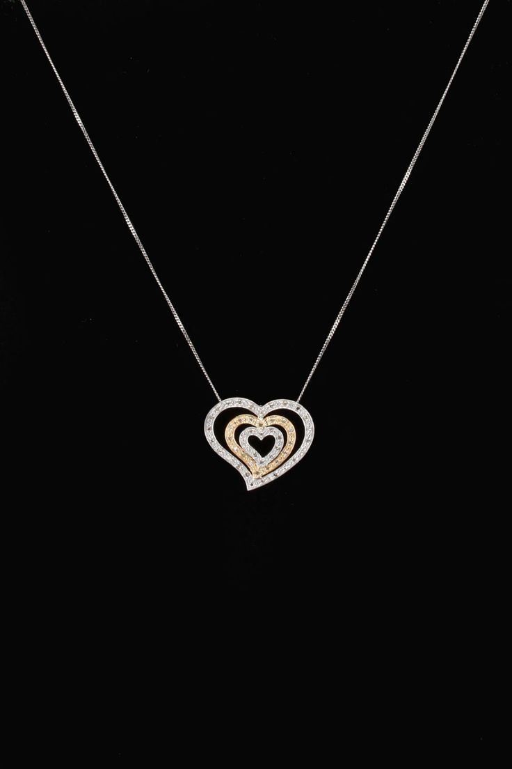Cursive letter quot l quot cubic zirconia 14k gold finish pendant with 36 - Gold Blowout 10k Two Tone Gold 0 33 Ct Diamond Heart Pendant
