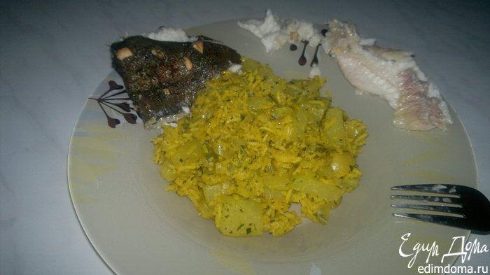 Запечённая камбала с Индейским рисом, приготовленным в стиле ризотто. | Кулинарные рецепты от «Едим дома!»