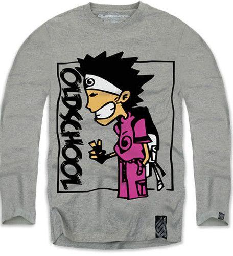 $14.25 New Authentic Oldschool Men's Long Sleeve Tshirt Sz M L XL Gray | eBay