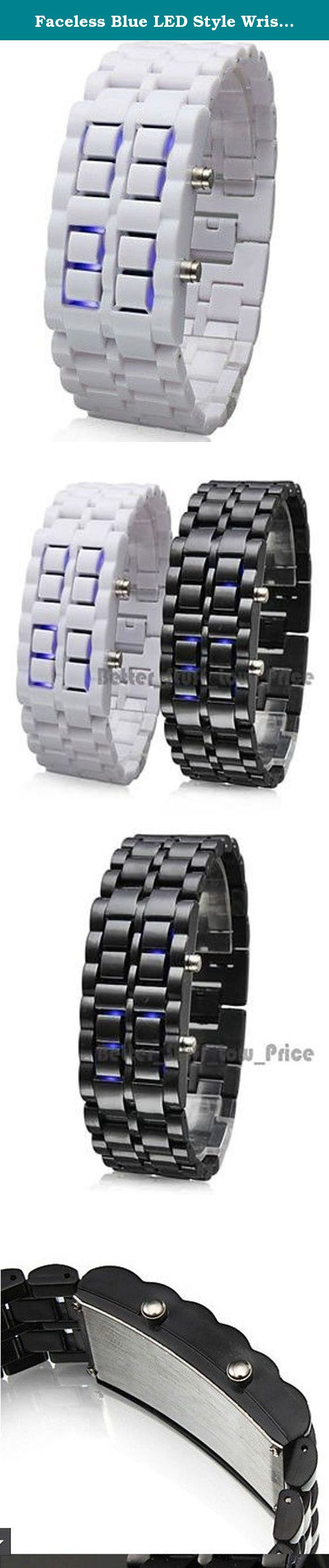 Faceless Blue LED Style Wrist Watches for Children's Best Gifts (White). From the Manufacturer Brand Name:HZZ Gender: Men's, Women's Movement: LED Display: Digital Style: Couple's Watches Type: Casual Watches, Sport Watches Band Material: Plastic Band Color: Black, White Band Length Approx (cm): 22.5 .