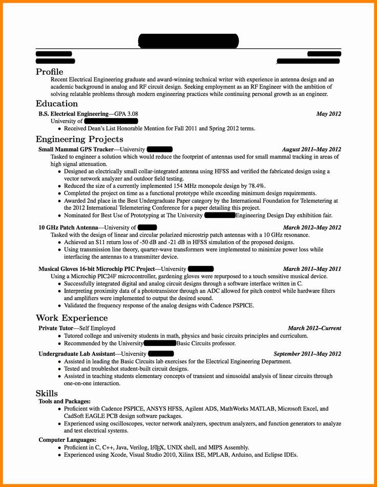 Resume Template for New Graduates Best Of 5 Cv Template