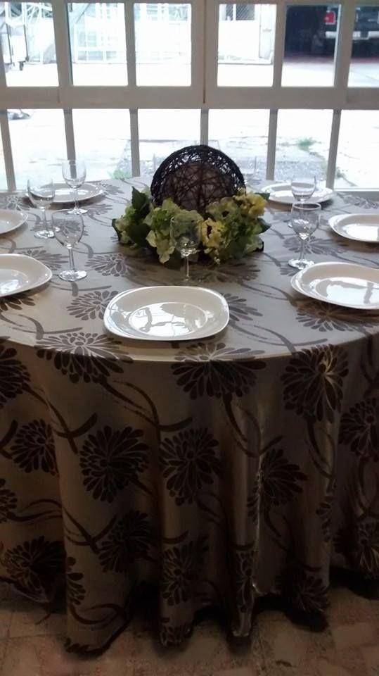 Mantel dorado con flores color cafe caminos de mesa vintage pinterest mantels - Mantel para mesa exterior ...