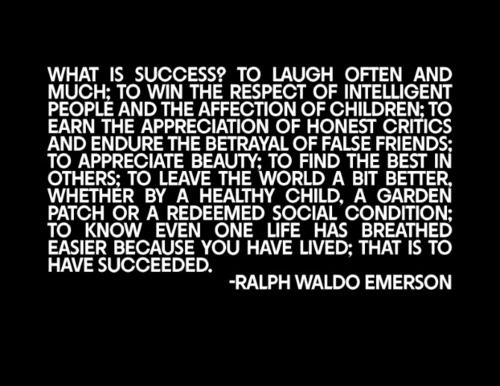 ralph waldo emerson essay on success Transcript of from education by ralph waldo emerson  the tone of the essay is reminiscent of a teacher calmly explaining a subject to a student.
