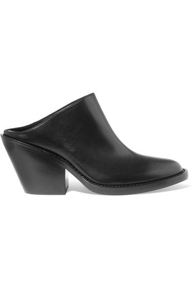 Ann Demeulemeester - Leather Mules - Black - IT39.5