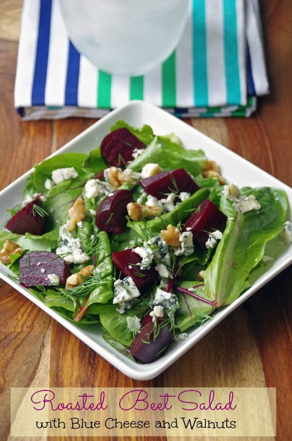 This beet salad recipe is quick and easy to make. The combination of dark, leafy greens and deep red beets is a powerhouse of antioxidants and essential nutrients.