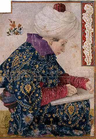 """Gentile Bellini, c.1479, """"Mehmet II"""""""