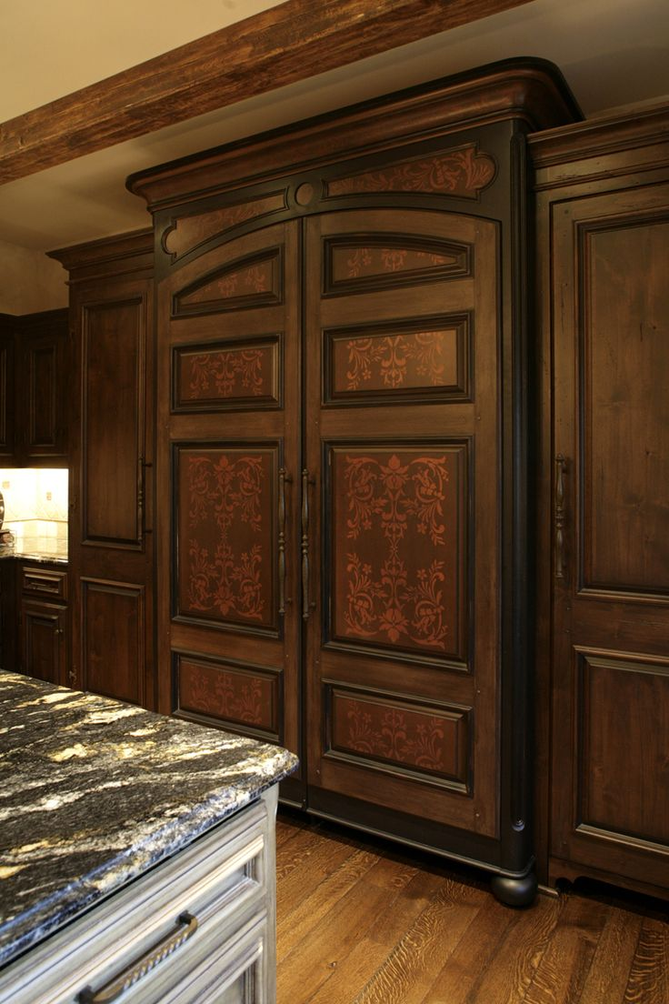 Wooden Refrigerator Cabinets ~ Best images about appliances on pinterest integrated