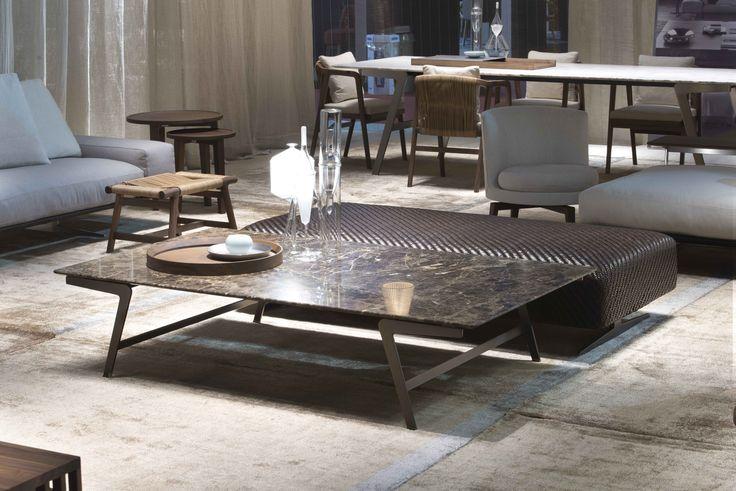 FLEXFORM stand at Salone del Mobile Milano 2016 | #FLEXFORM SOFFIO small #table #design Antonio Citterio