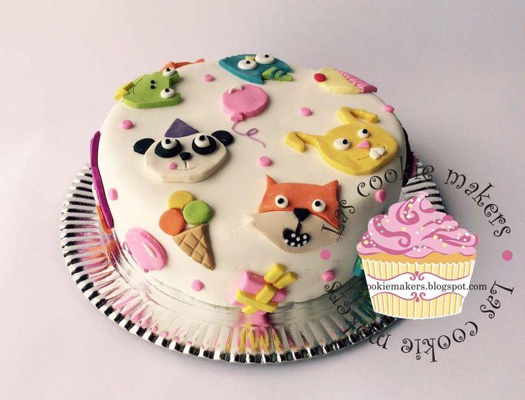 CUTE ANIMALS CAKE TORTA ANIMALITOS lascookiemakers@gmail.com