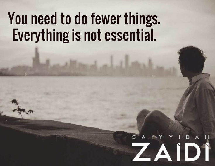 You need to do fewer things. Everything is not essential.