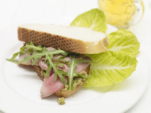 a cracking pesto sarnie