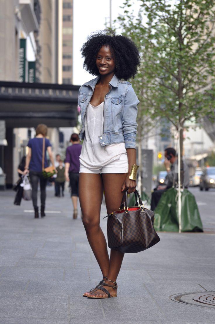 MY TWIN!? I love this blog!: Summer Looks, Jeans Jackets, Bighair, Summer Style, Street Style, Fashion Blog, Big Hair, Natural Hair, Black Women