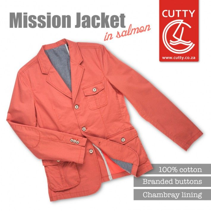 Introducing the coloured jacket. Considered one of this season's hottest must-haves, Cutty's Mission Jacket is bringing the heat with its trendsetting colourway, chambray lining and cool branded buttons.