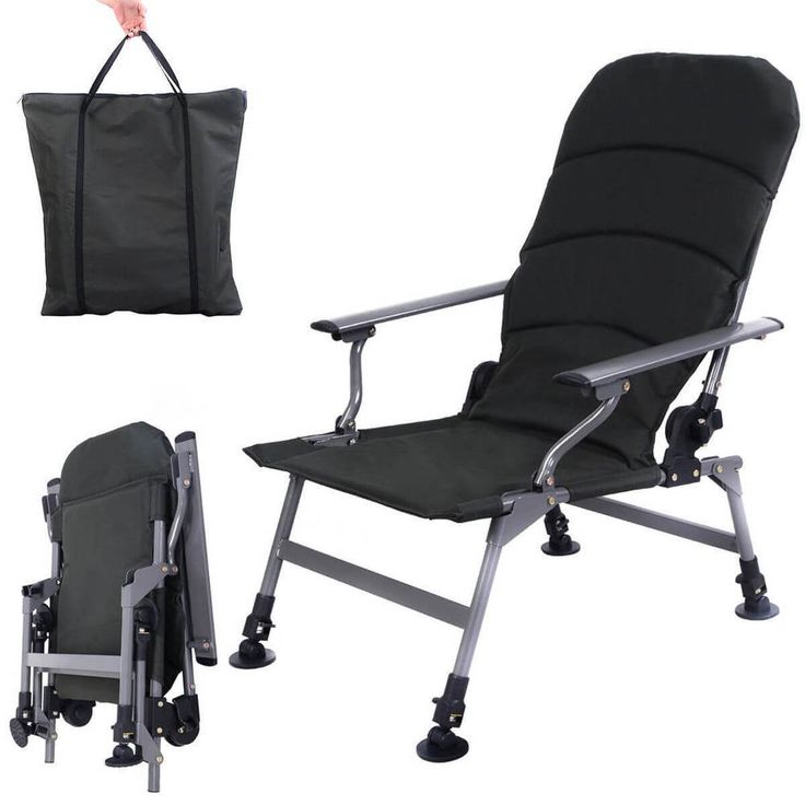 Folding Fishing Chair Portable w/Carry Bag Outdoor Camping Picnic Beach Seat NEW #1