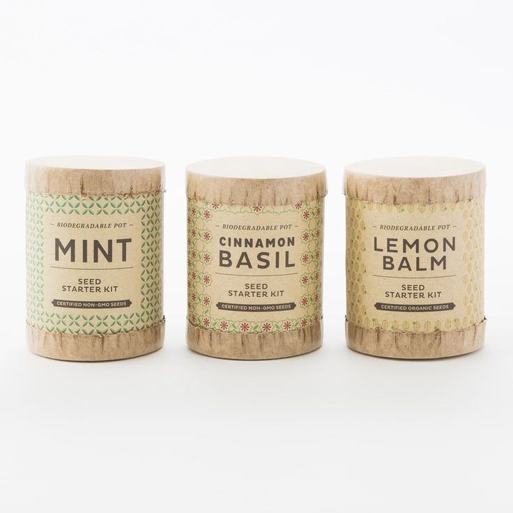 Kraft Seed Starter Kits | Brit + Co. Shop | DIY Online classes, DIY kits and creative products from makers you'll love.