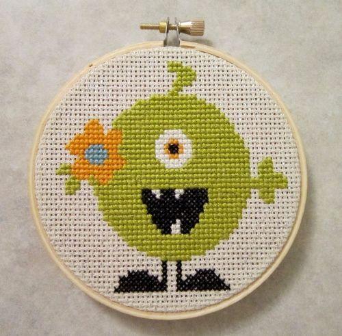 A cute green monster