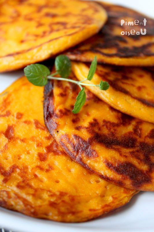 Pancakes de patate douce à la cardamome