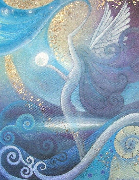 """A mystical art print titled Angel by Amanda Clark"" on Etsy  For me, breathtaking."