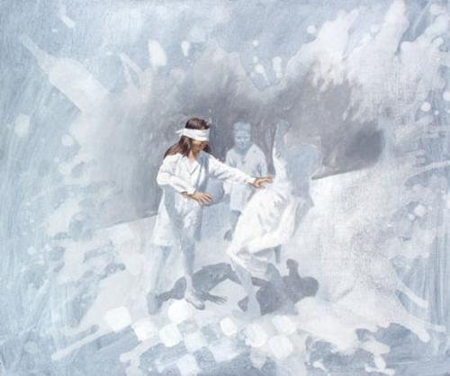 """Gallito ciego"" de Claudio Gallina, pintor argentino"