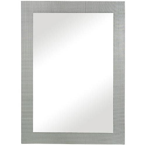 Silver With Tiled Glass Inlay Mirror