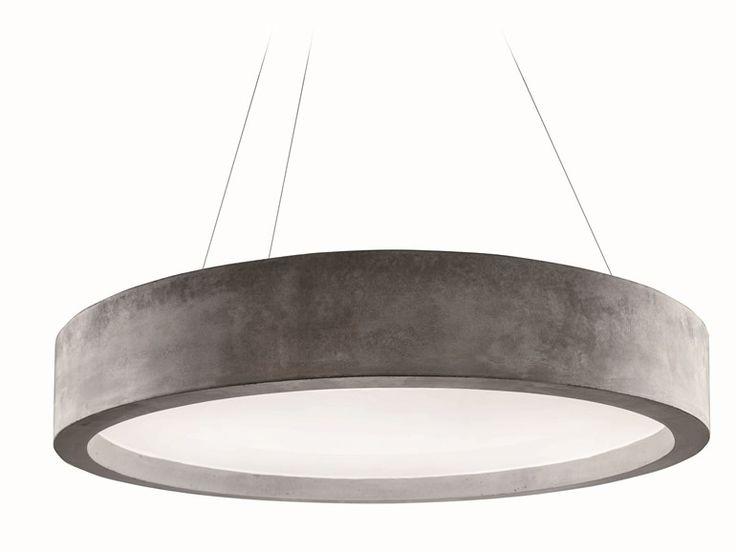 Cement pendant lamp ZERO51 I-Cementi Collection by LUCIFERO'S