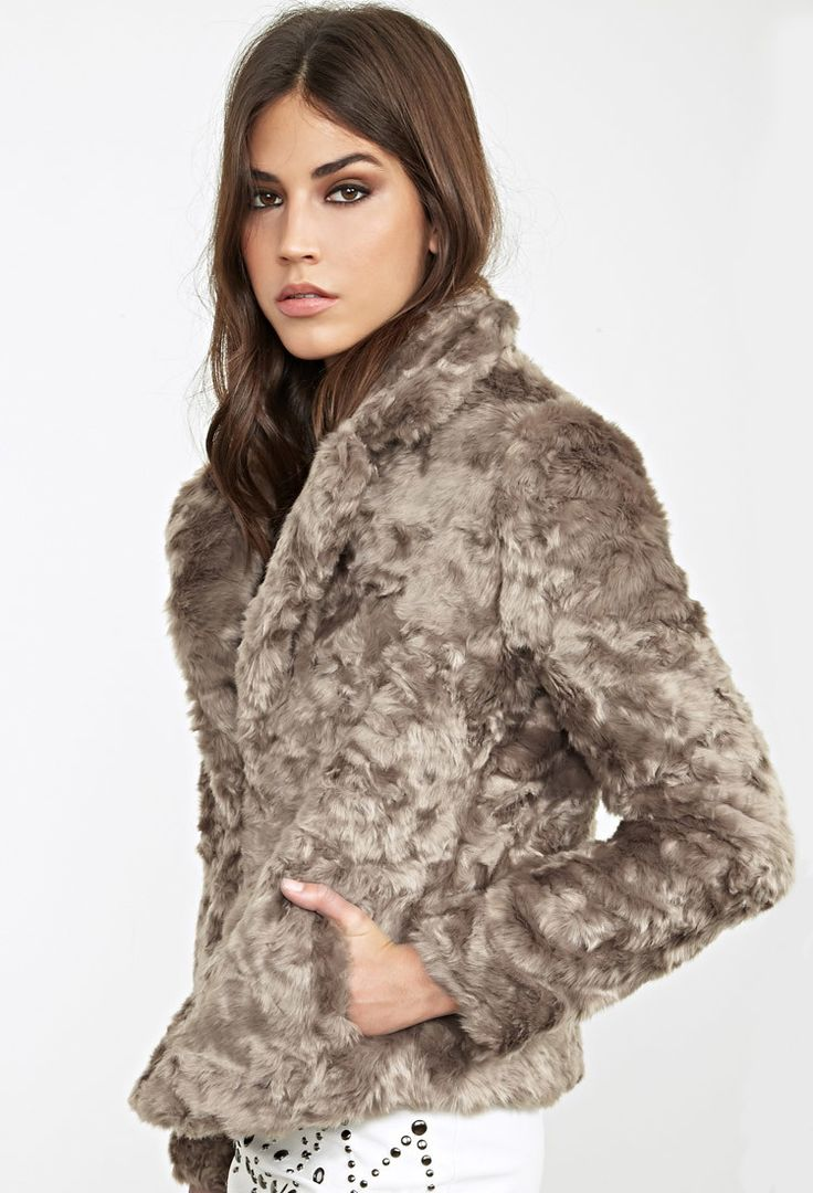 Boxy Faux Fur Jacket:
