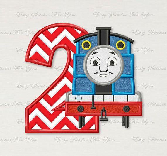 BOGO GRATIS Thomas el tren número 2 apliques por EasyStitchesForYou