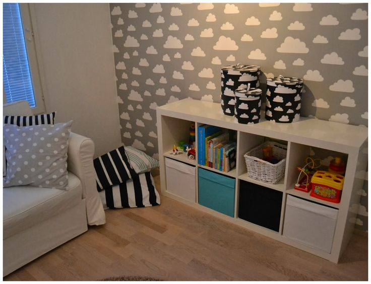 Färg&Form, pilvitapetti, lastenhuone