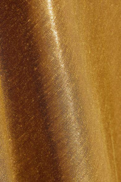 Mes Demoiselles - Brune Lamé Maxi Dress - Bronze - FR44